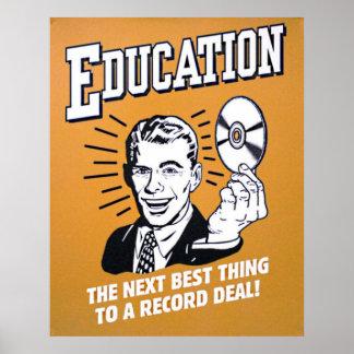 Poster éducation