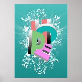 Poster Effet tridimensionnel de mot impressionnant frais