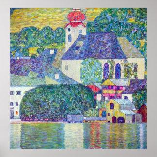 Poster Église de St Wolfgang par Klimt