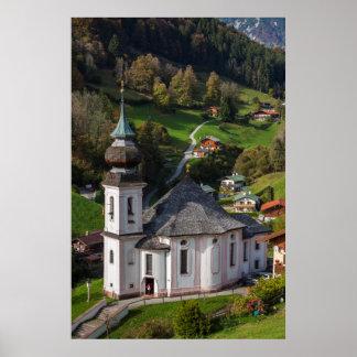 Poster Église de village de Maria Gern, Bavière