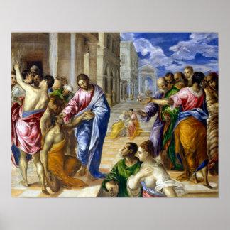 Poster El Greco le Christ guérissant les aveugles