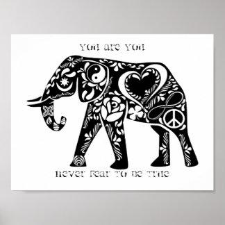 Poster Éléphant de paix
