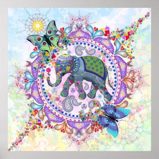 Poster Éléphant sacré