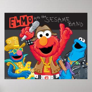 Poster Elmo et la roche de bande de sésame