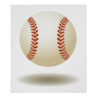 Poster Emblème frais de base-ball