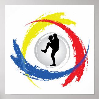 Poster Emblème tricolore de base-ball