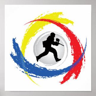 Poster Emblème tricolore de Paintball