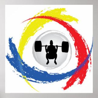 Poster Emblème tricolore d'haltérophilie