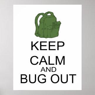 Poster Empêchez d'entrer le calme et l'insecte