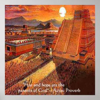 Poster Empire aztèque et affiche aztèque célèbre de