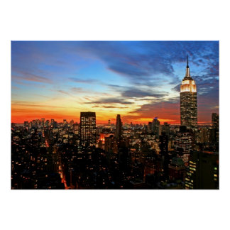 Poster Empire State Building/copie de New York