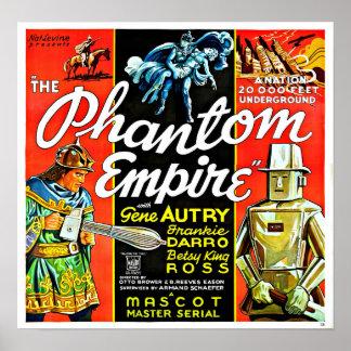 Poster Empire vintage de fantôme de robot de la