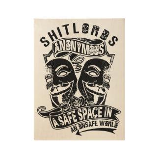 Poster En Bois Affiche anonyme de Shitlords