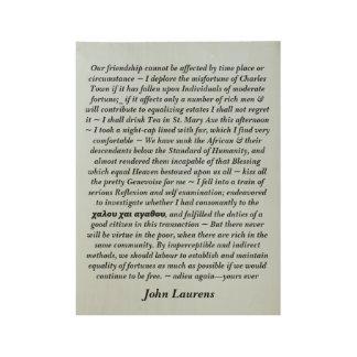 Poster En Bois Affiche de citation de John Laurens
