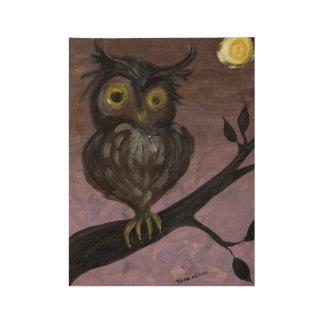 Poster En Bois Affiche en bois de hibou de Hooty