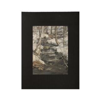 Poster En Bois Affiche en bois de ruisseau de bavardage
