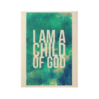 Poster En Bois Affiche pour des chrétiens : Je suis un enfant de