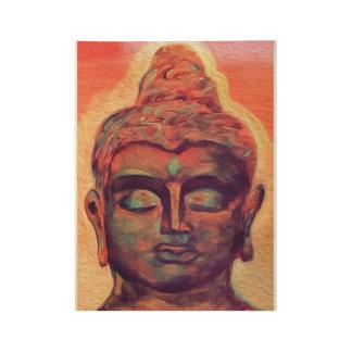 Poster En Bois Affiche Trippy de Bouddha
