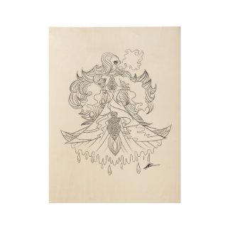 Poster En Bois Ardoise majestueuse en bois de sirène