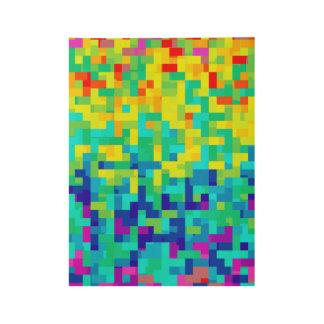 Poster En Bois Arrière - plan sans couture de motif de pixel en
