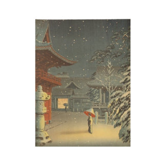 Poster En Bois Art de Shin Hanga de vente de tombeau de Koitsu
