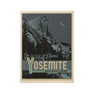 Poster En Bois D'affiche en bois de dôme de parc national de