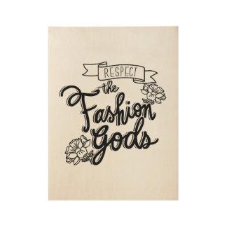 Poster En Bois Dieu de mode