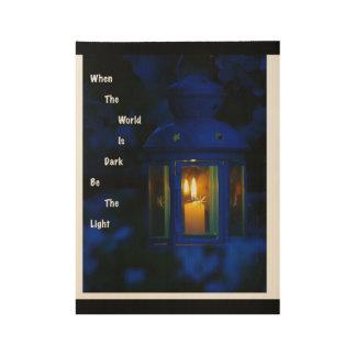 Poster En Bois Éclat lumineux