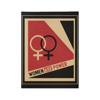 Poster En Bois Femmes sur la marche