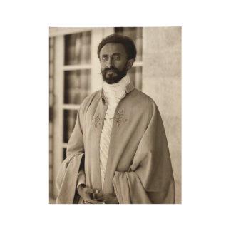 Poster En Bois Haile eux - HIM - Rastafari - Wood affiche