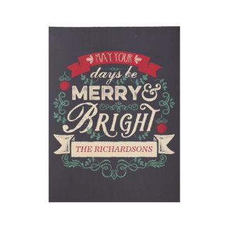 Poster En Bois Joyeuse et lumineuse bannière de coutume de