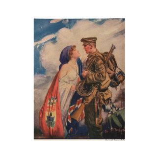 Poster En Bois La votre mère patrie n'oubliera jamais
