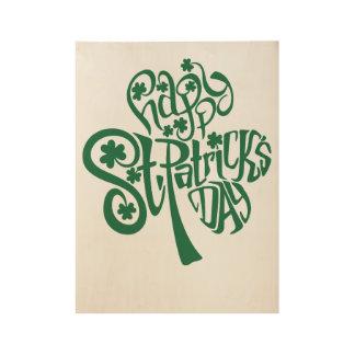 Poster En Bois Le jour de St Patrick heureux