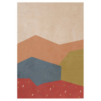 Poster En Bois Paysage abstrait