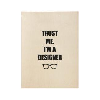 Poster En Bois Pour des concepteurs seulement