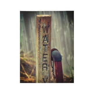 Poster En Bois Valve rustique de l'eau