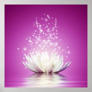 Poster Énergie curative de zen de yoga de guérisseur d'am