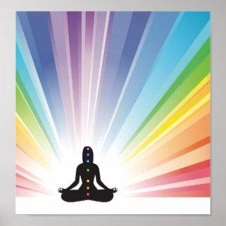 Poster énergie de chi d'ohm d'aura de zen de yogi de yoga