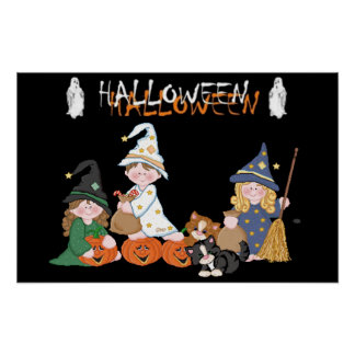 Poster Enfants � Halloween -