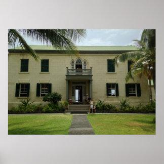 Poster Entrée de palais de Hulihe'e dans Kailua Kona,