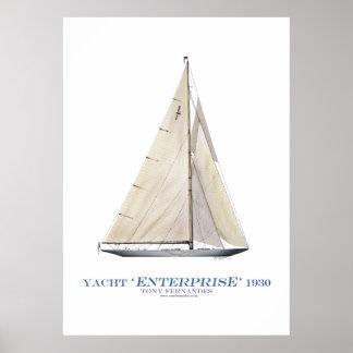 Poster entreprise 1930, fernandes élégants de yacht de