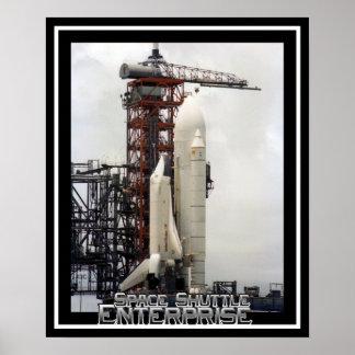 Poster Entreprise de navette spatiale