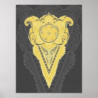 Poster Épée des fleurs, tarot, spiritualité, newage