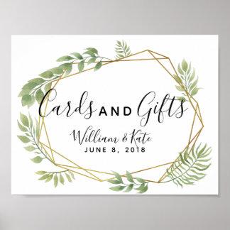 Poster épouser en cristal de cartes et de cadeaux de