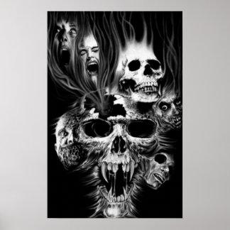 Poster Epouvante d'Halloween -