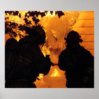 Poster Équipe de sapeur-pompier