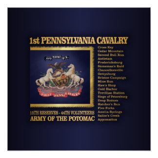Poster ęr Cavalerie de la Pennsylvanie (BH)