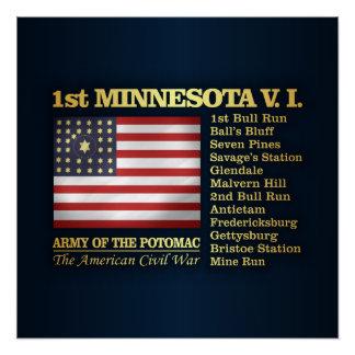 Poster ęr Infanterie volontaire du Minnesota (BH)