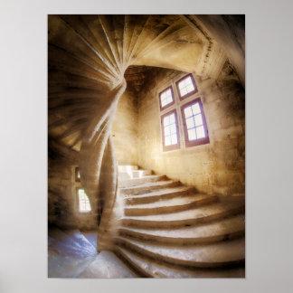 Poster Escalier beige de spirl, France