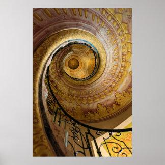 Poster Escalier en spirale circulaire, Autriche